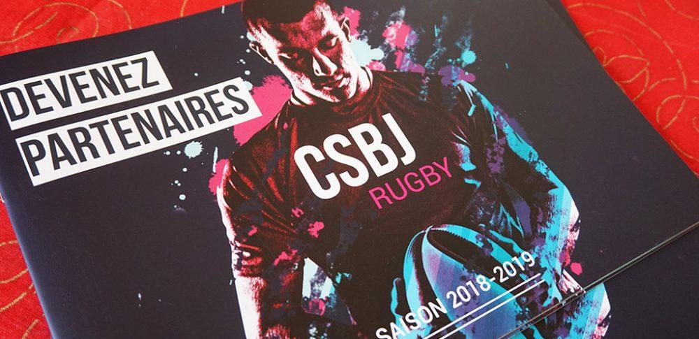 creation brochure csbj rugby partenaires
