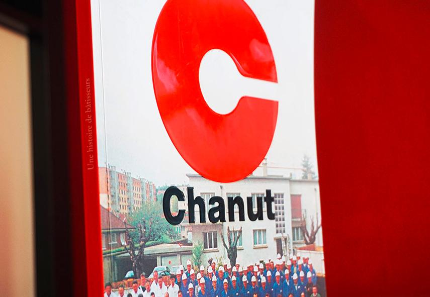 Chanut entreprise, rédaction et mise en page d'un livre historique de l'entreprise Chanut, entreprise BTP, Bourgoin-Jallieu