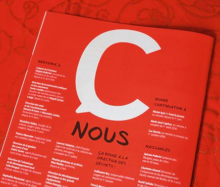 Magazine interne de la municipalité de Chambéry, C entre nous