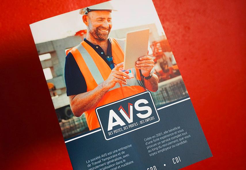 Logo AVS, entreprises de recrutement, plaquette