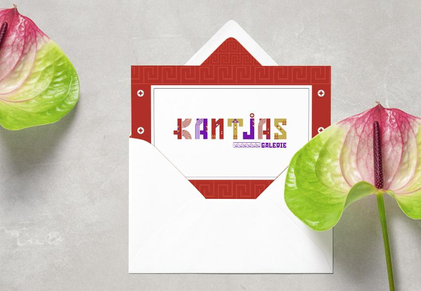 Kantjas galerie, art, logo,