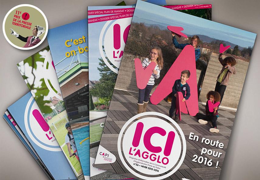 Magazine CAPI, ICI l'AGGLO, couvertures,