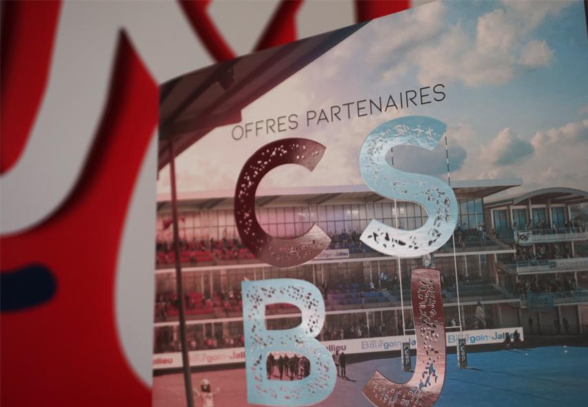 Plaquette CSBJ club de Rugby de Bourgoin Jallieu, partenaire, offre de prix